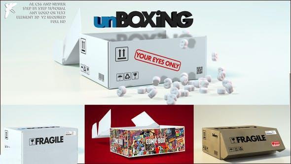پروژه آماده افترافکت : لوگو جعبه Box Logo 24144348
