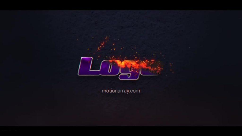 پروژه آماده افترافکت : لوگو آتشین Burning Logo 214883
