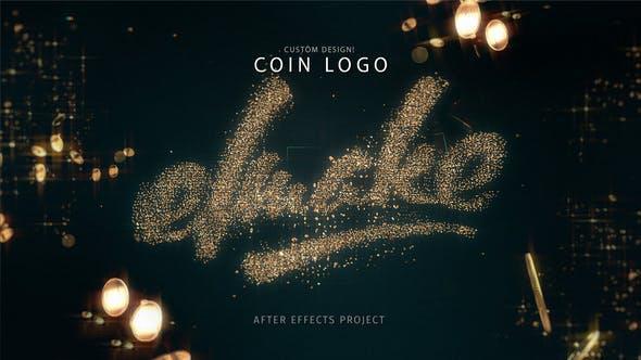 پروژه آماده افترافکت : لوگو پارتیکل سکه Coin Logo 24092867