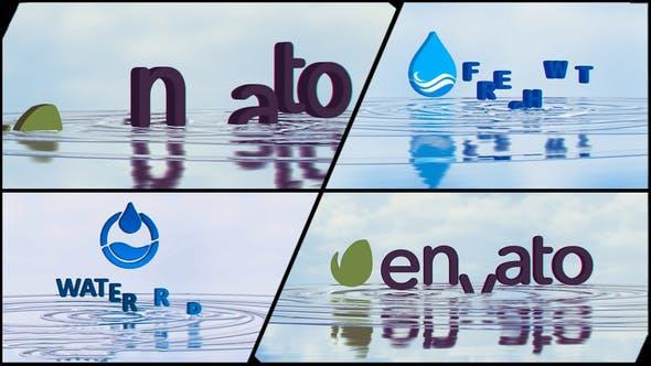 پروژه آماده افترافکت : لوگو Corporate Logo V21 Water Ripples Emerge 22401592