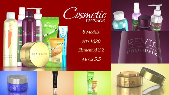 پروژه آماده افترافکت مخصوص تبلیغات لوازم بهداشتی و آرایشی Cosmetic Package Template 19190180