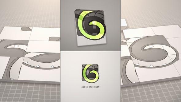 پروژه آماده افترافکت : لوگو Cube Puzzle Logo Reveal 22833789