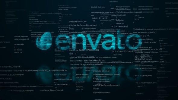 پروژه آماده افترافکت : لوگو دیجیتال Digital Code Logo Reveal 23589751