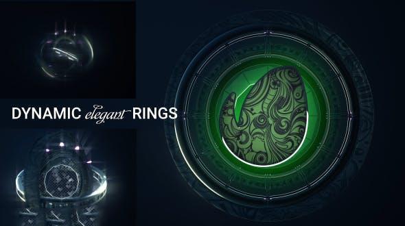 پروژه آماده افترافکت : لوگو رینگ Dynamic Rings Logo 20479443