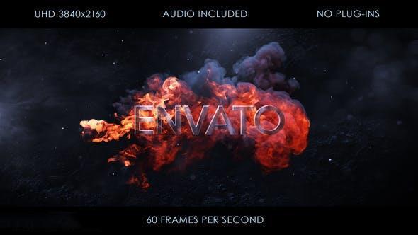پروژه آماده افترافکت : لوگو آتش Fire Logo Intro 23733392