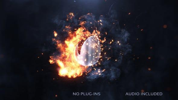 پروژه آماده افترافکت : لوگو آتش Fireswirl Logo 23190151