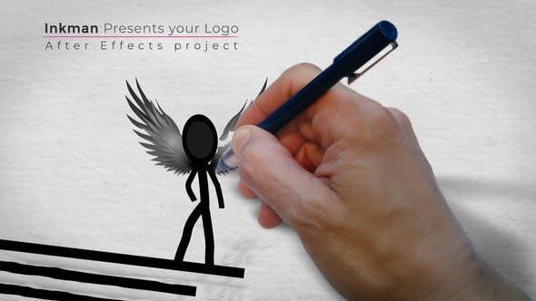 پروژه آماده افترافکت : لوگو مرد جوهری Inkman Presents Your Logo 132169