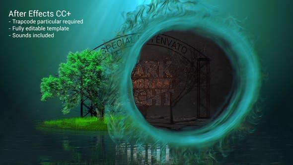 پروژه آماده افترافکت : آرم استیشن جنگل تاریک Light And Dark Intro 24228581