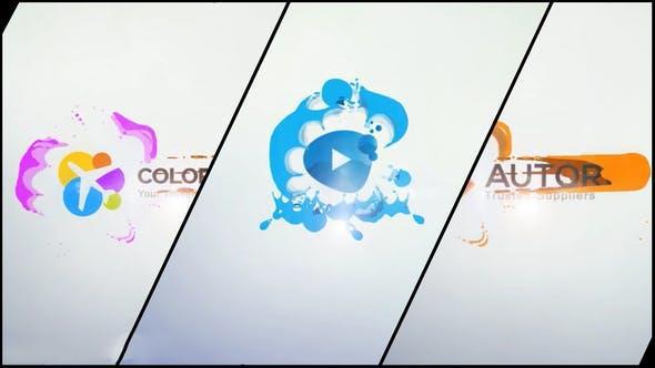 پروژه آماده افترافکت : لوگو فلت Liquid Corporate Logo 11153880