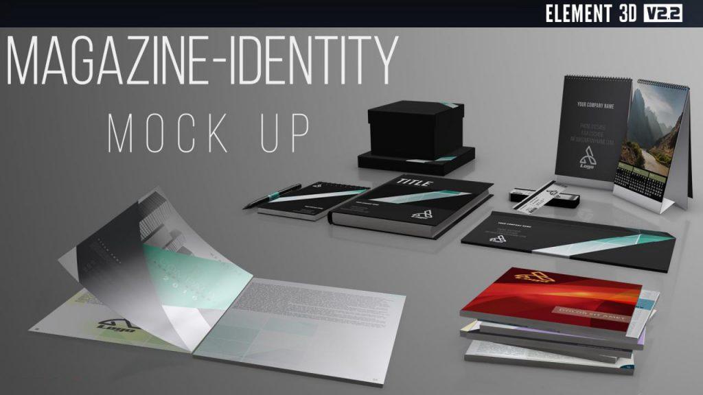 پروژه آماده افترافکت : موکاپ و تیزر تبلیغاتی مجله Magazine-Identity Mock Up 214400