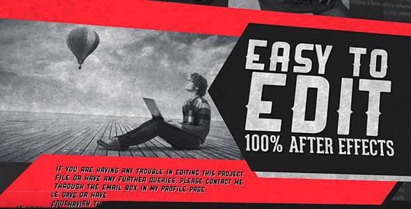 پروژه آماده افترافکت : تیزر تبلیغاتی مجله Retro Magazine Promo 5197509