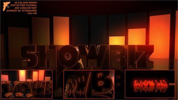 پروژه آماده افترافکت : آرم استیشن Showbiz Element Logo 23602147