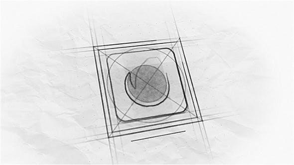پروژه آماده افترافکت : لوگو Sketch Logo Reveal 17810014