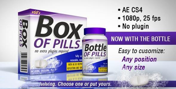 پروژه آماده افترافکت : تیزر تبلیغاتی قرص مکمل 3D Medicine Box And Bottle 4135865