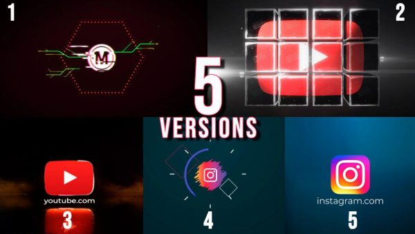 پروژه آماده افترافکت : لوگو 5 Versions – Logo Reveal 210810