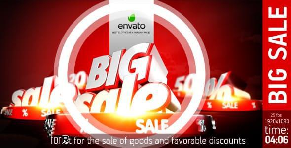 پروژه آماده افترافکت : تیزر تبلیغاتی حراج بزرگ Big Sale 16976147