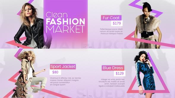 پروژه آماده افترافکت : تیزر تبلیغاتی پوشاک فشن Clean Fashion Market 20328902