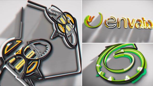 پروژه آماده افترافکت : لوگو Colorful Stroke Logo Intro 21591479