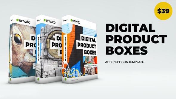 پروژه آماده افترافکت : تیزر تبلیغاتی پک دی وی دی Digital Product Boxes 23324623
