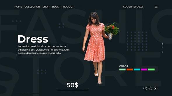پروژه آماده افترافکت : تیزر تبلیغاتی مزون لباس Fashion Store 23248084