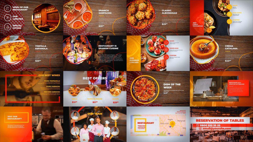 پروژه آماده افترافکت : تیزر تبلیغاتی رستوران Food – Restaurant Menu 131295