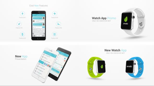 پروژه آماده افترافکت : تیزر تبلیغاتی اپل واچ Iphone 6 and Apple Watch Presentation Kit 11860291