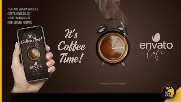 پروژه آماده افترافکت : تیزر تبلیغاتی کافی شاپ It's Coffee Time – Logo 23658826