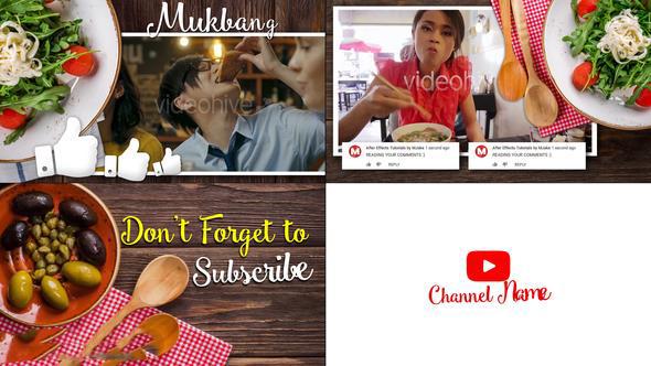 پروژه آماده افترافکت : تیزر تبلیغاتی رستوران Mukbang Food Youtube Intro 23097953