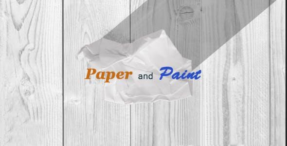 پروژه آماده افترافکت : لوگو استاپ موشن کاغذی Paper Logo Reveal 15902373