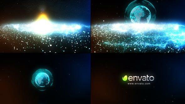 پروژه آماده افترافکت : لوگو پارتیکل Particle Galaxy Logo 9609069