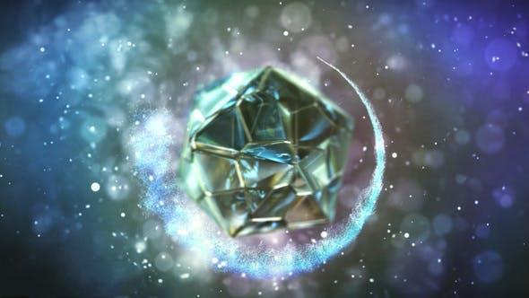 پروژه آماده افترافکت : لوگو چند ضلعی شیشه ای Polyhedron Glass Logo 22568308