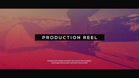 پروژه آماده افترافکت : تیزر تبلیغاتی با افکت پارازیت Production Reel L Glitch Promo 19260213