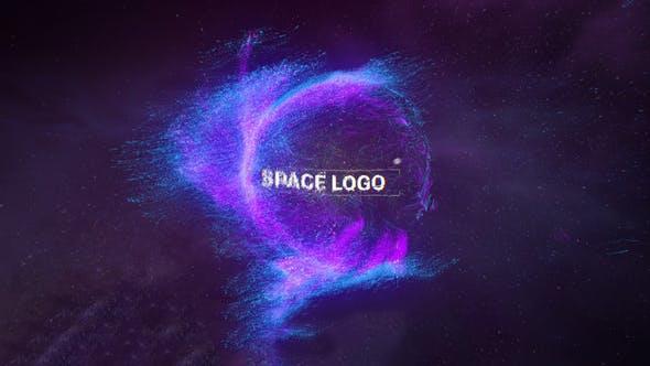 پروژه آماده افترافکت : لوگو پارتیکل Space Logo 24196115