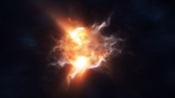 پروژه آماده افترافکت : لوگو پارتیکل انفجار Storm Particles Logo Intro 24366091