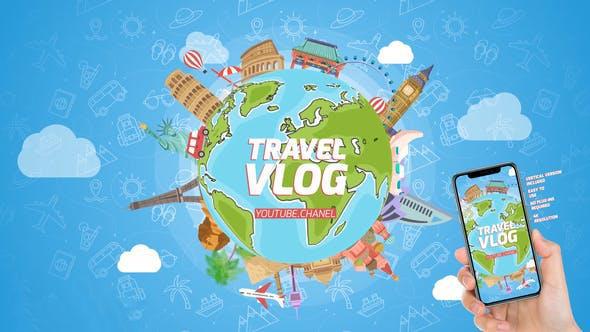 پروژه آماده افترافکت : تیزر موشن گرافیک آژانس مسافرتی Travel Logo Reveal 23912416