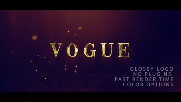 پروژه آماده افترافکت : آرم استیشن Vogue Logo Reveal 24494586